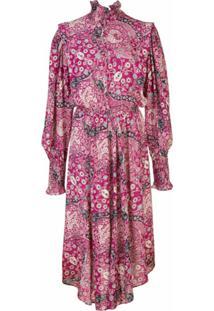 Isabel Marant Étoile Vestido Midi Com Estampa Paisley - Rosa