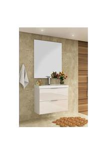 Conjunto P/ Banheiro Pietra Branco/ Branco Brilho Bosi