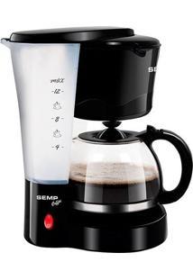 Cafeteira Elétrica Practice Coffe 12 Xicaras Com Jarra De Vidro Preto Semp Toshiba - 110V