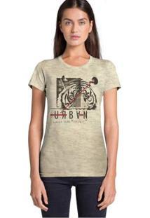 Camiseta Joss Urban Feminina - Feminino-Bege