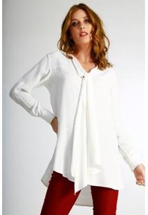 Camisa Alongada Wool Line Tricot Feminina - Feminino