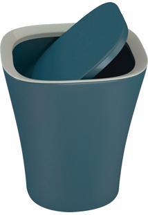 Lixeira Basculante 8.5 Litros Euro Home Smart Azul Petróleo