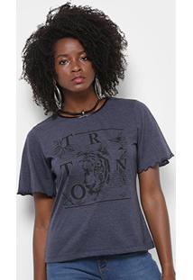 Camiseta Triton Tigre Feminina - Feminino-Azul