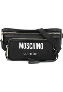 Moschino Pochete Com Logo - Preto