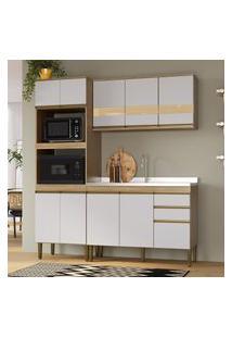 Cozinha Compacta Casablanca Casa Mia A3494 Mel E Off White