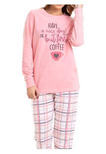 Pijama Longo Em Plush Xadrez Malwee (1000042752)