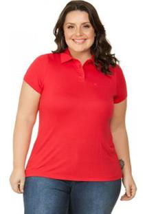 Polo Pique Plus Size Miss Masy Plus - Feminino-Rosa