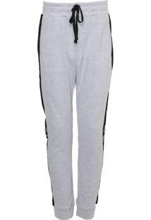Calça Moletom Calvin Klein Underwear Jogger Lettering Cinza