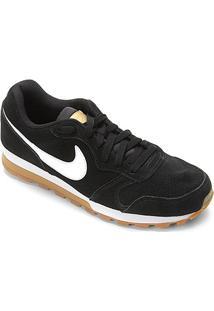 Tênis Nike Md Runner 2 Suede Masculino - Masculino-Preto+Branco