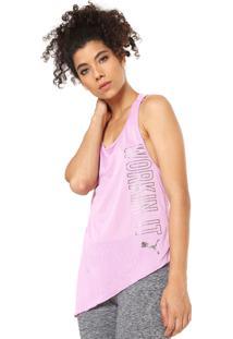 Regata Puma Slogan Tank Rosa