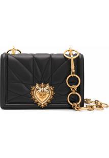 Dolce & Gabbana Bolsa Tiracolo Matelassê Devotion - Preto