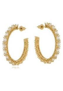 Argola Aberta Le Diamond Zircônias Dourada