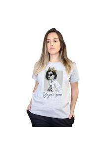 Camiseta Boutique Judith Be Your Queen Cinza