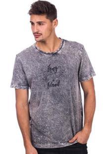 Camiseta Long Island Tdy - Masculino-Grafite