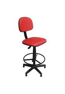 Cadeira Recepçáo Pethiflex Csx-02 Caixa Alta Giratória Vermelha