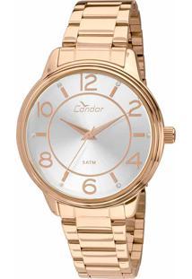 ... Relógio Feminino Condor Analógico Com Cristais Swarovski Co2035Kvl K4K  Ouro eb3f2d1b4d