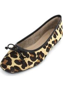 Sapatilha Couro Dali Shoes Animal Print Onça Feminina - Feminino-Marrom