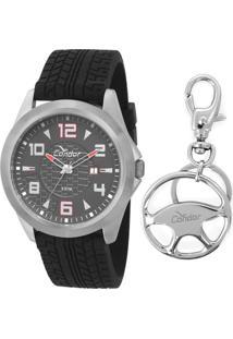 d4db4b775 Marisa. Relógio Masculino Silicone Vidro Manual Kit Condor Co2115twk8r