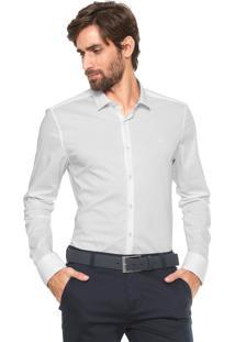 Camisa Calvin Klein Slim Cannes Branca