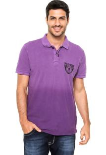 Camisa Polo Polo Wear Piquet Roxa
