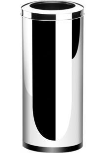 Lixeira Aço Inox Aro Decorline 30X60Cm 40,5L Brinox 3033/205