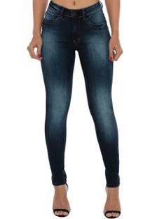 5a2a37e20 Calça Jeans Denuncia Mid Rise Skinny Feminina - Feminino-Azul Escuro