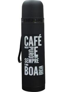 Garrafa Termica Café Preto Puro