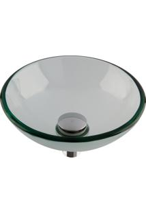 Cuba De Apoio Redonda Astra Cp/Qm Morion 30X10Cm Vidro Transparente