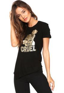 Camiseta Cativa Disney Maleficent Preta