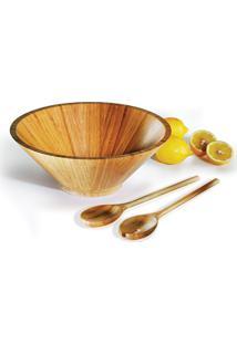 Conjunto Para Servir Pequim 3 Peças Em Bambu Welf