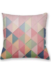 Capa De Almofada Decorativa Own Geométrica Triângulos Rosa 45X45 - Somente Capa
