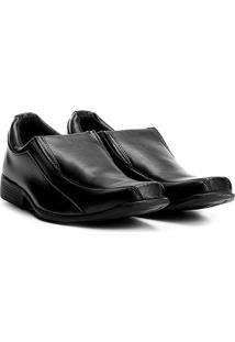 Sapato Social Walkabout Tony Bico Quadrado - Masculino-Preto