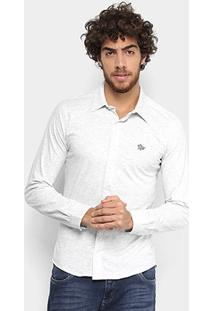 Camisa Social Polo Rg 518 Manga Longa Masculina - Masculino-Mescla