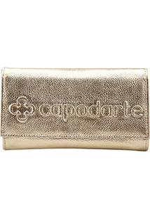 Bolsa Couro Capodarte Clutch Logo Feminina - Feminino