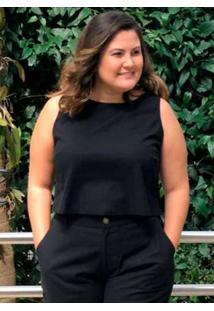 Blusa Cropped Almaria Plus Size Miss Taylor Gola R
