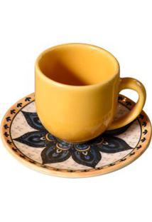 Xícara De Café Mehndi Coup Em Cerâmica 112Ml Porto Brasil