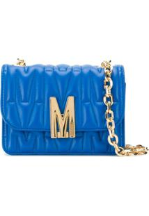 Moschino M-Quilted Shoulder Bag - Azul