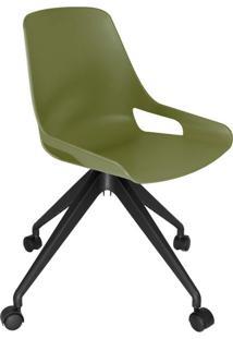 Cadeira De Cozinha Giratória Beau Verde E Preta