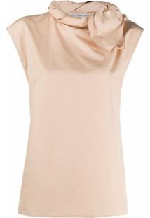 Givenchy Blusa Com Detalhe De Renda - Neutro