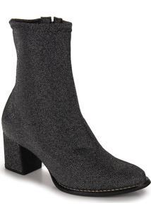 Ankle Boots Feminina Lara - Prata Velho