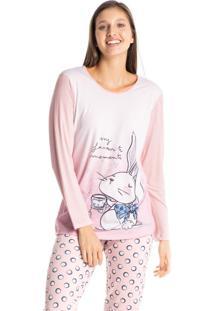 Pijama Longo Estampado Bunny