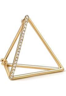 Shihara Brinco Triângulo Com Diamantes 20 (01) - Metálico