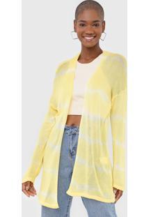 Maxi Cardigan Tricot Dress To Tie Dye Amarelo - Amarelo - Feminino - Viscose - Dafiti