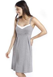 Camisola Gestante Ispirate Feminina - Feminino-Cinza