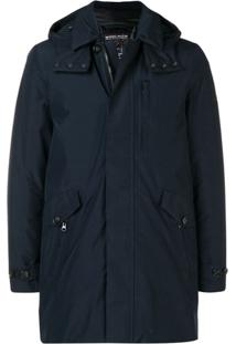 Woolrich Hooded Down Coat - Azul