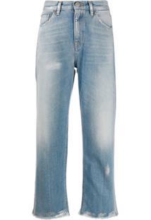 Haikure Calça Jeans Cropped Cintura Alta - Azul