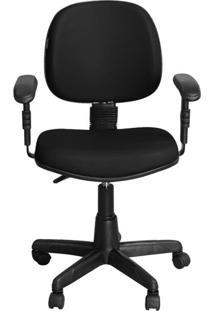 Cadeira Pethiflex Ce-01Bpbt Giratória Couro Preto
