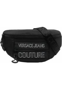 Versace Jeans Couture Pochete Com Estampa De Logo - Preto