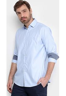 Camisa Aleatory Estampada Manga Longa Masculina - Masculino