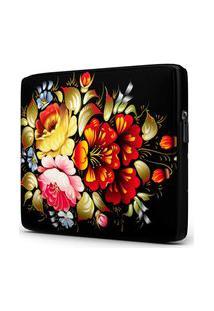 Capa Para Notebook Floral 15.6 À 17 Polegadas Com Bolso